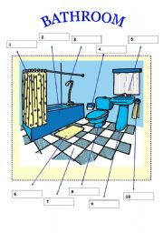 English Worksheet: Vocabulary About Parts Of A Bathroom