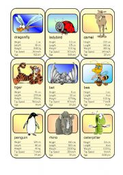 English Worksheet: Animal Card Game (3)