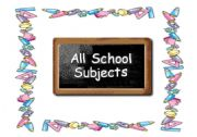 English powerpoint: School Subjects