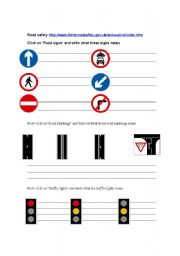 English Worksheet: UK road signs IT lesson