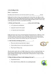 English Worksheets: Action Reading Activity part 1