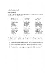 English Worksheets: Action Reading Activity part 2