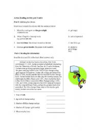 English Worksheets: Action Reading Activity part 3 and 4