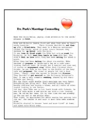 English Worksheet: Dr. Park�s marriage counselling