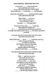 god one of us lyrics: