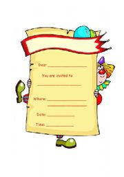 English Worksheet: Birthday invitations