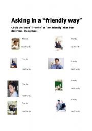 English Worksheet: Asking for Help in a Friendly Way