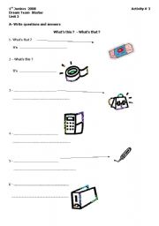 English Worksheets: What�s this ?  What�s That ?