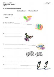 English Worksheets: What are these ? - What are those ?