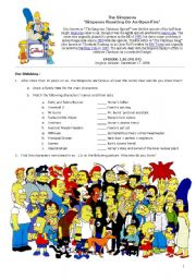 English Worksheet: The Simpsons_Guide for the Pilot Episode 1 of 2