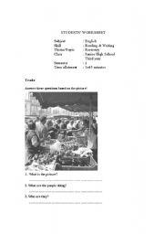 English Worksheets: Economy