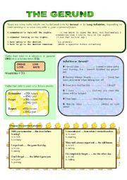 English Worksheets: GERUND