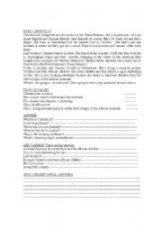 English Worksheets: CARMEN