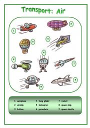 English Worksheet: Means of transport: Air