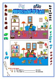 English Worksheets: PREPOSITION OF PLACE