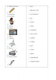 English Worksheets: Match the columns