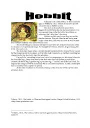 English Worksheet: Hobbit, or There and back again - by J.R.R. Tolkien