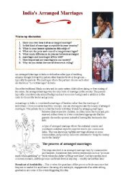 English Worksheets: arranged marriages