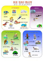 English Worksheet: ON HOLIDAY VOCABULARY