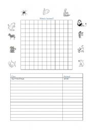 English Worksheets: MYO Animal Wordsleuth