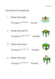 English Worksheet: In, On, and Under