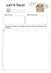 Printables Dialogue Worksheets english teaching worksheets dialogues creating a dialogue role play worksheet
