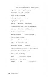 English Worksheets: exercises for revision