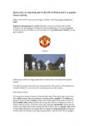 English Worksheet: Sports in Britain: Cricket and Rugby