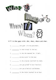 Reading Comprehension: Who? What? Where?   Reading comprehension ...