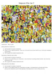 The Simpsons Guess Who