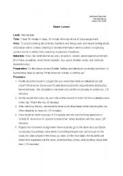 English Worksheet: Easter Vocabulary and Cultural Holiday Worksheet