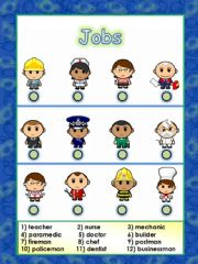 English powerpoint: jobs or occupations - An attractive and useful worksheet (14.08.08)