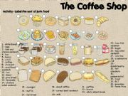 English powerpoint: The Coffee shop