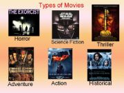 English powerpoint: Types of movies