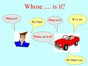 English powerpoint: Whose is it?