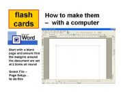 English powerpoint: How to Make Flash cards with Word