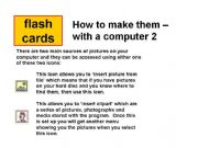 English powerpoint: How to make flash cards in Word 2