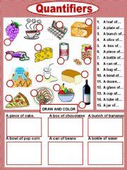 English powerpoint: Food Presentation Quantifiers