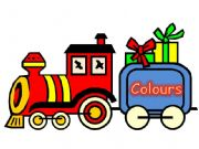 English powerpoint: COLOURS TRAIN DISPLAY