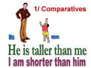 English powerpoint: comparison