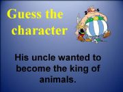English powerpoint: Guess the character