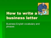 English powerpoint: business letter