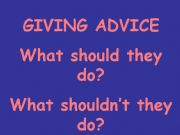 English powerpoint: Giving Advice