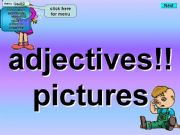 English powerpoint: Adjectives - Kim´s Game - Pictures