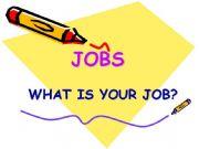 English powerpoint: jobs