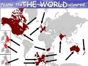 English powerpoint: The World: Identify the countries (PPS1)
