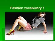 English powerpoint: Fashion vocabulary flashcards 1