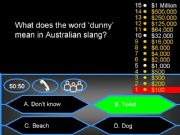 English powerpoint: Who wants to be a millionaire? - Australian (Aussie) Slang