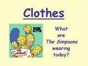 English powerpoint: Clothes - Part 1