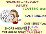 English powerpoint: CAN - CAN´T FOR ABILITY